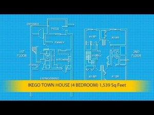 米軍の自慢の住宅間取り(米軍ホームページから)。二階建て、4ベッドルーム、3シャワーバス、リビング、ダイニング、ファミリールーム、キッチン、エアコン、冷蔵庫、皿洗い機など完備。これも思いやり予算で。